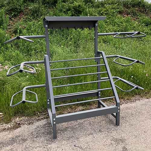 Shires Metal Pole Folding Type Saddle Rack Various colours